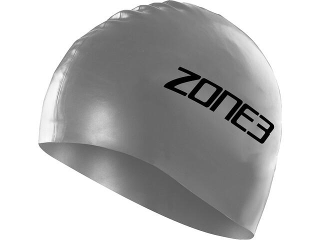 Zone3 Silicone Gorro de Natación, silver